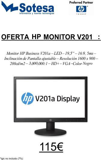 hp monitor v201