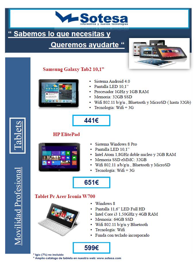 oferta en tablets
