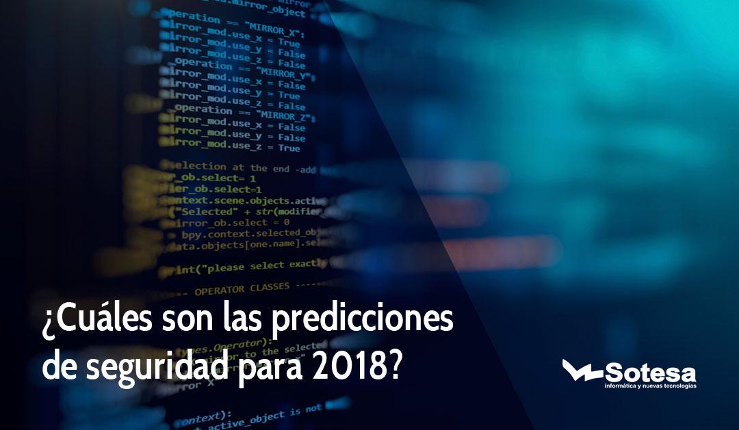 seguridad para 2018
