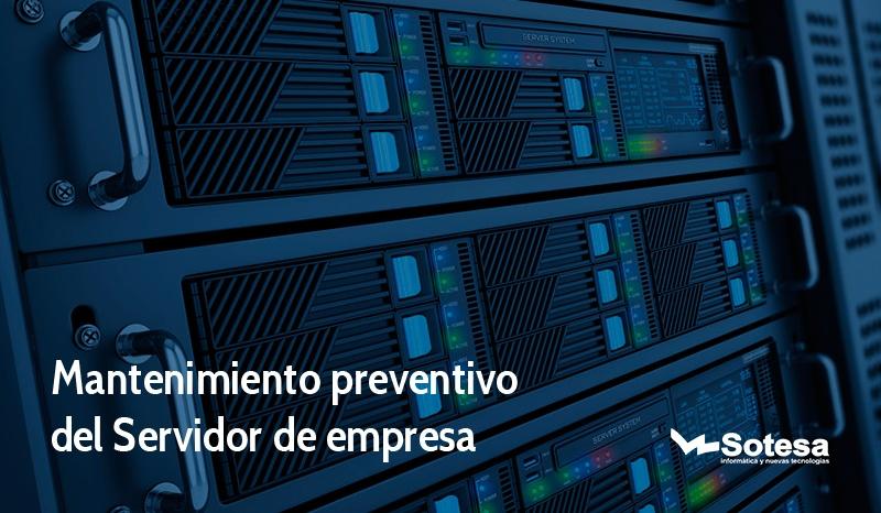 mantenimiento preventivo del servidor